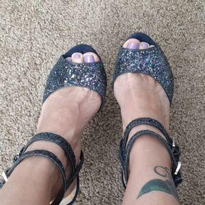 Sam Edelman Glitter Platform Heel